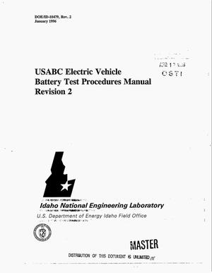 usabc electric vehicle battery test procedures manual revision 2 1996