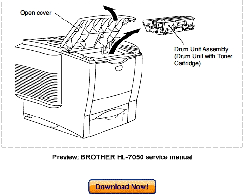 brother hl 6050 parts manual