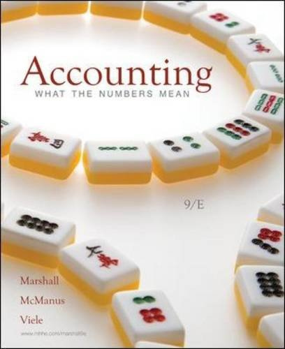 accounting what the numbers mean 11th edition marshall solutions manual