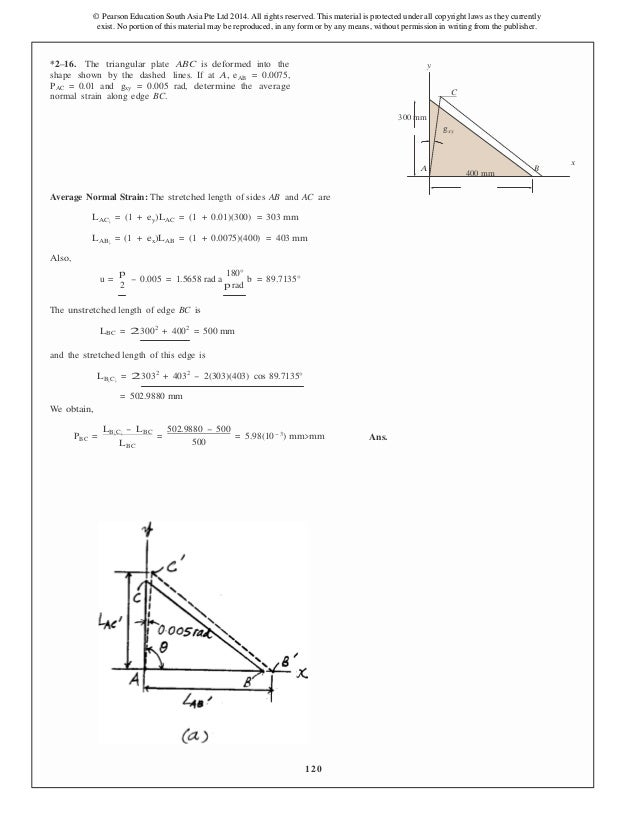 mechanics of materials 5th edition si units solution manual