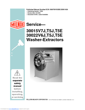 milnor washer extractor parts manual