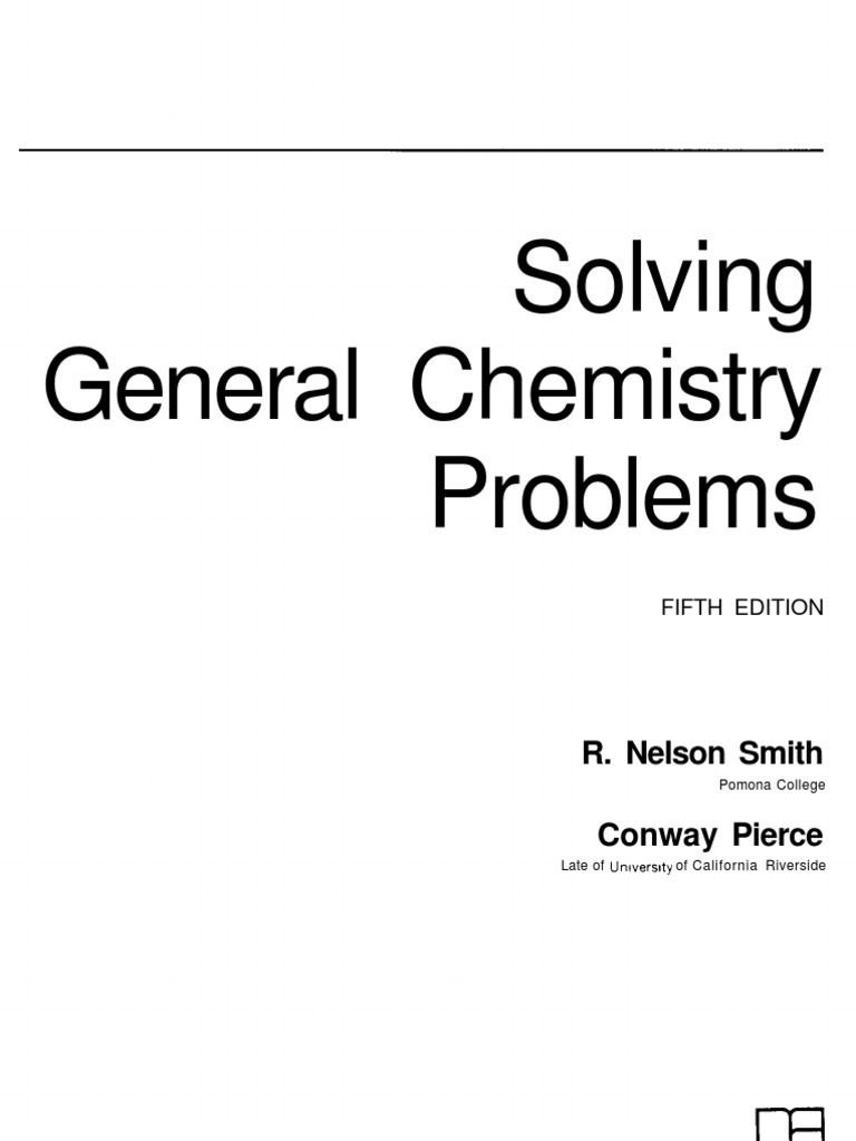 general chemistry 4th edition mcquarrie solutions manual pdf